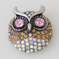 GOLD CLUSTER PAVE OWL