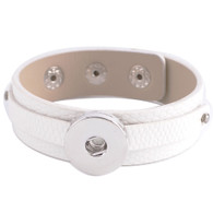 REMOVABLE BUTTON BRACELET - WHITE PEARL