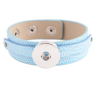 REMOVABLE BUTTON BRACELET - BABY BLUE