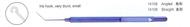 Jaffe- Knolle Iris hook Straight- Titanium