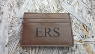 Personalized Engraved Leather Wallet Money Clip, Front Pocket Wallet, Men's Wallet, Wallet ID Card Holder, Credit Card Holder, Wedding Gift