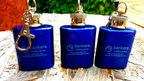 Blue Flask Keychain