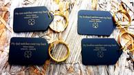 Personalized Brass Keyring