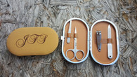 Personalized Leather Manicure Gift Set