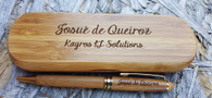 Personalized Bamboo Pen and Case