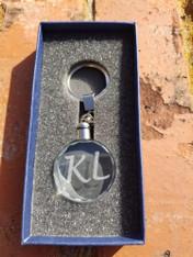 Personalized Engraved Clear Crystal Keychain, Keyring, Key FOB, Key Holder, Key Clip, Wedding Gift, Groomsman Gift, Bridesmaid Gift