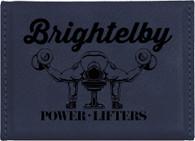 Blue Leather Business Card Holder