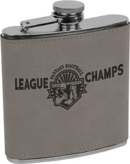 Gray Leather Flask