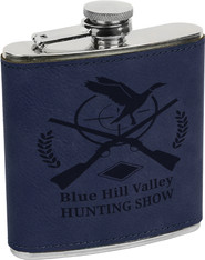 Blue Leather Flask