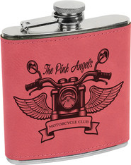 Pink Leather Flask
