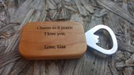 Personalized Wood Bottle Opener