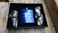 Blue Stainless Steel Flask Set