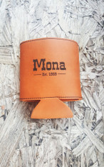 Personalized Rawhide Leather Koozie