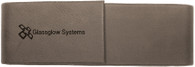 Personalized Gray Leather Double Pen Case