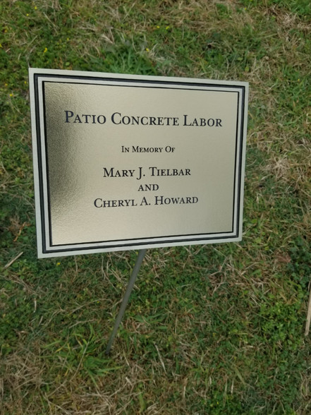 Personalized Engraved Gold Outdoor Plaque W Stake