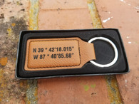 Personalized Rawhide Leather Keyring