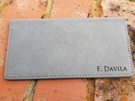 Personalized Engraved Leather Checkbook Cover, Checkbook Wallet