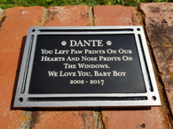 Personalized Pet Memorial Plaque, Dedication Plaque, Outdoor Plaque