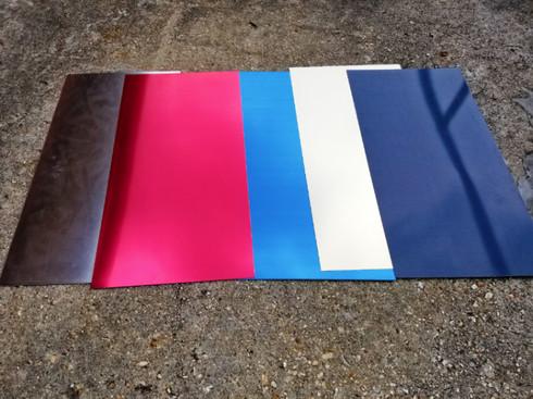 Custom Cut 22 Gauge Color Coated Aluminum Sheet, Indoor Metal, .025 ...