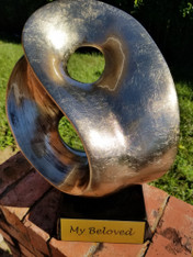 "14"" Gold Yin Yang Metal Art Sculpture Award"