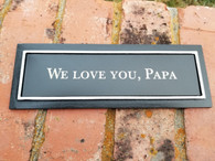 "Personalized Engraved 3x9"" Outdoor Bench Plaque w/ Screws, Memorial Plaque, Garden Plaque, Building Plaque, Bench Plaque, Custom Plaque"