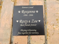 "Up to 6x6"" Personalized Engraved Outdoor Name Plate, Garden Name Plaque, Trophy Plate, Plaque Plate, Award Plate, Black Name Plate"
