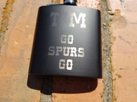 Personalized San Antonio Spurs 6 oz. Stainless Steel Flask with Funnel, Groomsmen Gift Flask, Wedding Flask