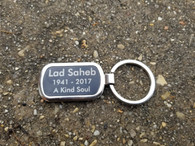 Personalized Engraved Black Metal Keychain, Metal Keyring, Key FOB, Key Holder, Key Clip, Wedding Favors, Wedding Gifts, Groomsman Gift