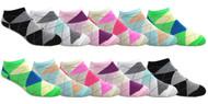 Fun Socks Spandex - Argyle // 1 CASE (30 DZ) - $2.55/DZ
