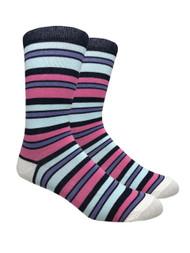 FineFit Stripe Dress Socks (SD511) - 1 Dozen