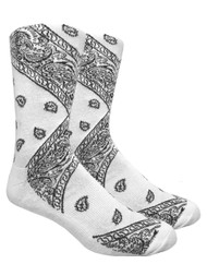 LEAF Republic Bandana Socks - White - 1 Dozen