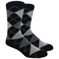 FineFit Black -  Black Argyle (ADB014) - 1 Dozen