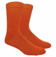 FineFit Plain Dress Socks - Orange - 1 Dozen