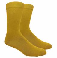 FineFit Plain Dress Socks - Mustard - 1 Dozen