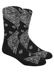 LEAF Republic Bandana Socks - Black - 1 Dozen
