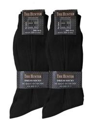 The Hunter Men's Dress Socks - Black (Size: 10-13)