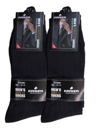 Kaiser Men's Dress Socks - Black (Size: 10-13)