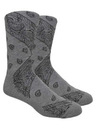 LEAF Republic Bandana Socks - Grey - 1 Dozen