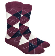 FineFit Black - Burgundy Argyle (ADB015) - 1 Dozen