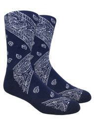 LEAF Republic Bandana Socks - Navy - 1 Dozen