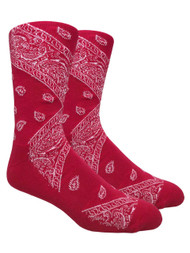 LEAF Republic Bandana Socks - Red - 1 Dozen