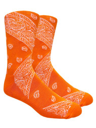 LEAF Republic Bandana Socks - Orange - 1 Dozen