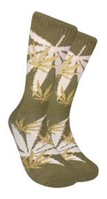 LEAF Republic Marijuana Print Crew Socks (LF004)