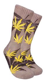 LEAF Republic Marijuana Print Crew Socks (LF005)