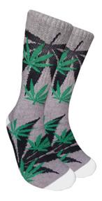 LEAF Republic Marijuana Print Crew Socks (LF011)