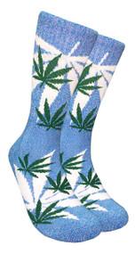 LEAF Republic Marijuana Print Crew Socks (LF017)