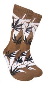 LEAF Republic Marijuana Print Crew Socks (LF019)