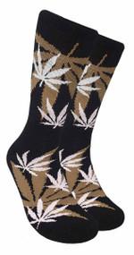 LEAF Republic Marijuana Print Crew Socks (LF023)