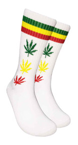 Mad Toro Marijuana Design Crew Socks (TR009)