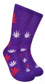 Mad Toro Marijuana Design Crew Socks (TR014)